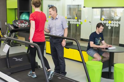 Exercise and sport science students using the High Performance Centre