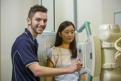 Medical Radiation Science Medical Imaging student using campus facilities