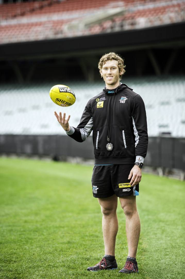 Daniel Rogers, Human Movement Exercise and Sports Science graduate, working at Port Adelaide Football Club