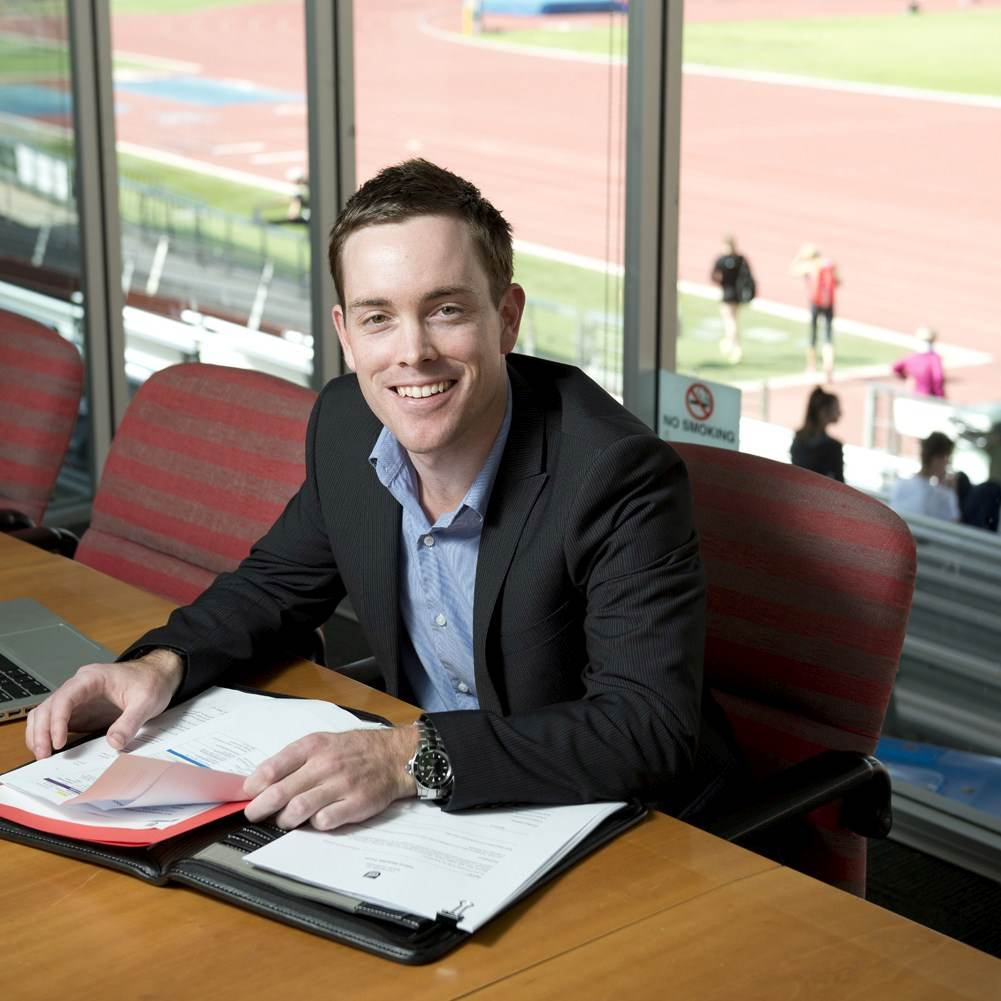 Sport and recreation management student, Damien Jennings