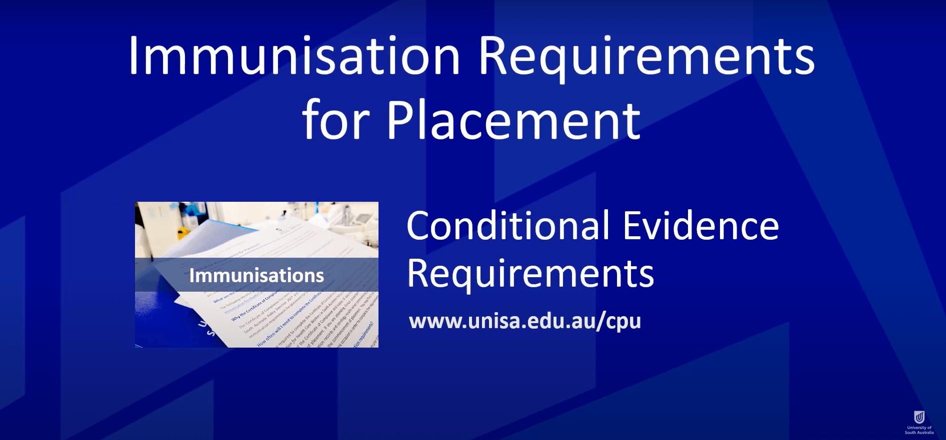 Immunisation and tuberculosis screening - Study at UniSA - University of South  Australia